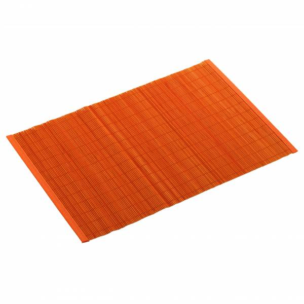 PLACESETS Platzset Orange, 45 x 30 cm, Bambus