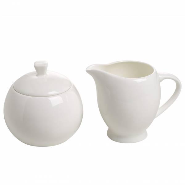 CASHMERE MANSION Milch & Zucker Set 2-teilig, Bone China Porzellan, in Geschenkbox