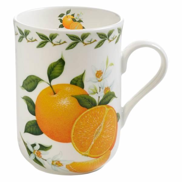ORCHARD FRUITS Becher Orange, Bone China Porzellan, in Geschenkbox